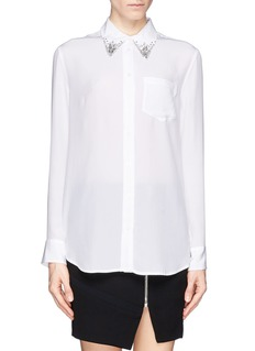 EQUIPMENT 'Reese' jewel collar silk shirt