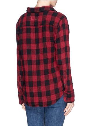 Back View - Click To Enlarge - rag & bone/JEAN - 'Leeds' plaid print muslin shirt