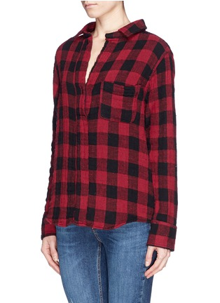 Front View - Click To Enlarge - rag & bone/JEAN - 'Leeds' plaid print muslin shirt