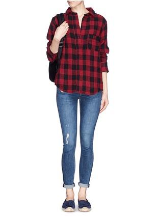 Figure View - Click To Enlarge - rag & bone/JEAN - 'Leeds' plaid print muslin shirt
