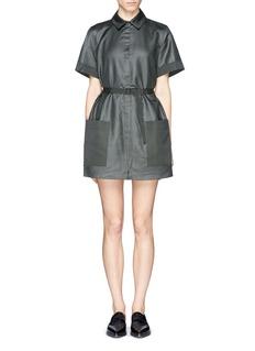 ACNE STUDIOSMercerised poplin belt shirt dress