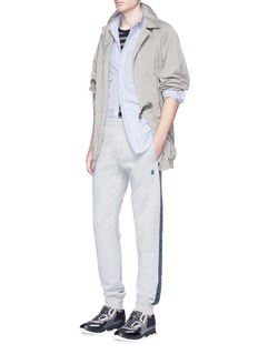 LanvinRibbon trim cotton jogging pants