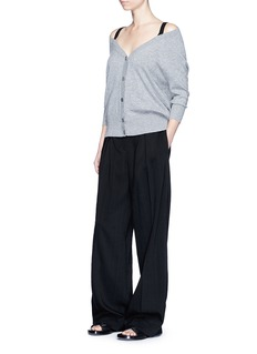 Theory'Saline B' cold shoulder cashmere cardigan