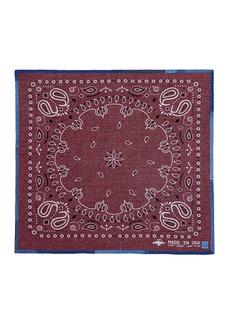 AlbumVintage denim trim bandana jacquard blanket