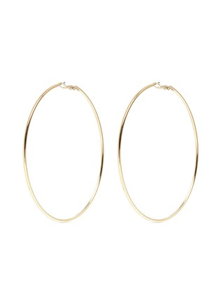 Kenneth Jay Lane - Gold plated large hoop earrings