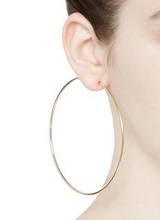Kenneth Jay Lane Gold plated large hoop earrings