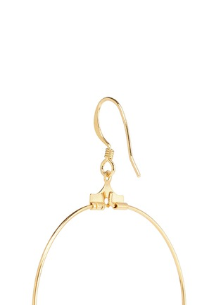 Detail View - Click To Enlarge - Kenneth Jay Lane - Resin bead gold plated hoop earrings
