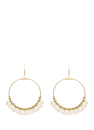 Main View - Click To Enlarge - Kenneth Jay Lane - Resin bead gold plated hoop earrings