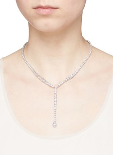 CZ by Kenneth Jay Lane Cubic zirconia pear pendant necklace