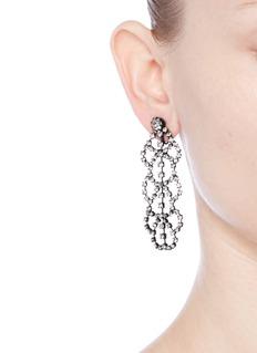 Kenneth Jay LaneGlass crystal lace drop earrings