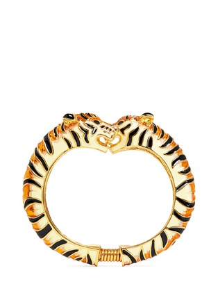 Main View - Click To Enlarge - Kenneth Jay Lane - Enamel double tiger gold plated cuff
