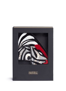 Novel 'Diaethria Clymena' butterfly wing silk pocket square
