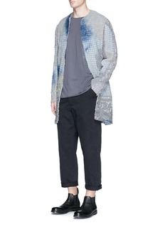 By Walid 'Alex' floral grid crochet blouson jacket