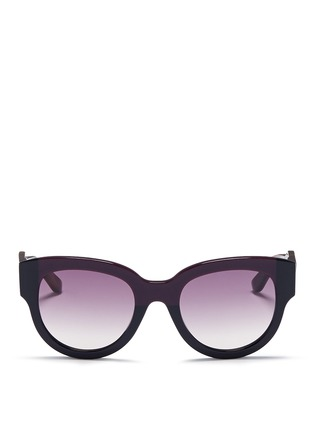 Main View - Click To Enlarge - Marni - Tortoiseshell effect temple colourblock acetate sunglasses