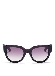 MARNITortoiseshell effect temple colourblock acetate sunglasses