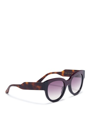 Figure View - Click To Enlarge - Marni - Tortoiseshell effect temple colourblock acetate sunglasses