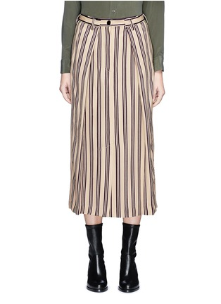 Main View - Click To Enlarge - Dries Van Noten - Front vent stripe skirt