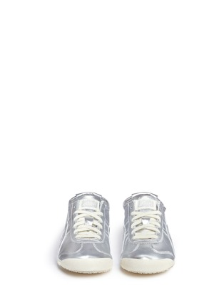 Front View - Click To Enlarge - Onitsuka Tiger - 'Mexico 66' unisex metallic leather sneakers