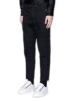 'Moto' zip cuff seamed knee pant
