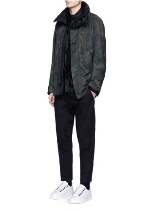 Figure View - Click To Enlarge - rag & bone - 'Moto' zip cuff seamed knee pant