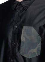 'Contractor' camouflage print pocket shirt
