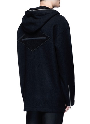 Back View - Click To Enlarge - rag & bone - 'Drexel' French terry patch wool hoodie