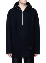 'Drexel' French terry patch wool hoodie