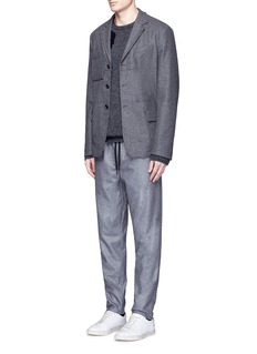 rag & bone 'Everett' drawstring virgin wool felt pants