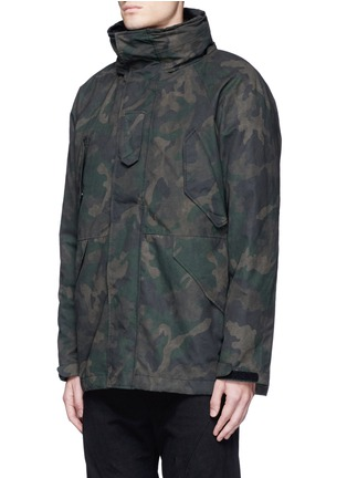 Front View - Click To Enlarge - rag & bone - 'Ezra' camouflage print detachable liner parka