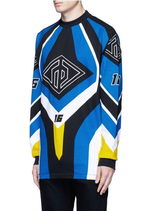 Front View - Click To Enlarge - rag & bone - 'Optical Moto' print sweatshirt