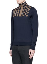 Arrow dot intarsia wool turtleneck sweater