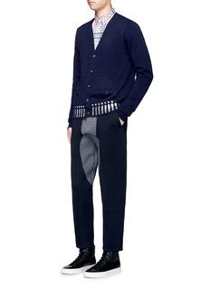 kolorFoil stripe print wool cardigan