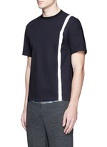 Contrast stripe tech jersey T-shirt