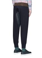 Contrast gusset jogging pants