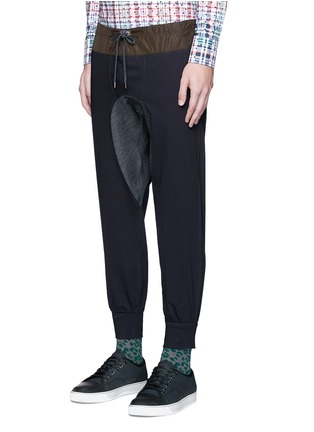Front View - Click To Enlarge - kolor - Contrast gusset jogging pants