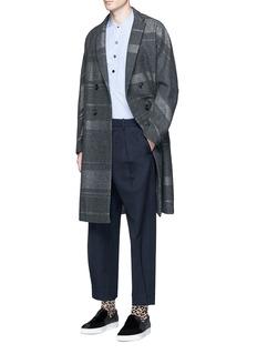 kolorMetallic stripe double breasted coat