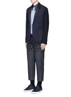 kolorLeopard velvet flock print wool-blend pants