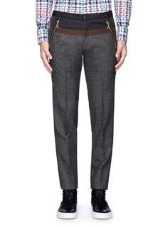 kolorSatin waist wool pants