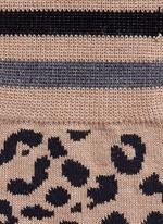Leopard intarsia wool socks