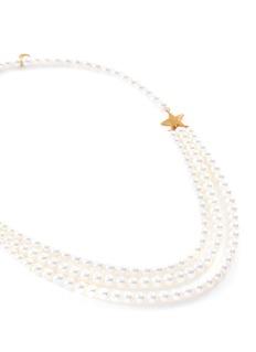 Tasaki 'First Lady Star' Akoya pearl 22k yellow gold necklace