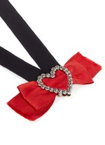 'Courtney' convertible heart brooch ribbon necklace set