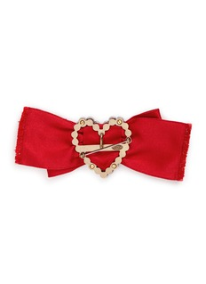 LANVIN 'Courtney' convertible heart brooch ribbon necklace set