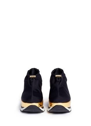 Front View - Click To Enlarge - Marni - Tech fabric patent platform sneakers
