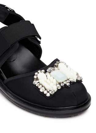 Detail View - Click To Enlarge - Marni - 'Fussbett' jewelled techno sandals