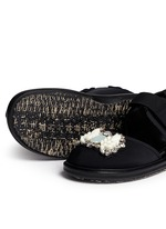 'Fussbett' jewelled techno sandals