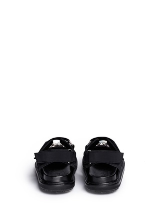 Back View - Click To Enlarge - Marni - 'Fussbett' jewelled techno sandals