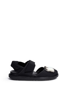 MARNI 'Fussbett' jewelled techno sandals