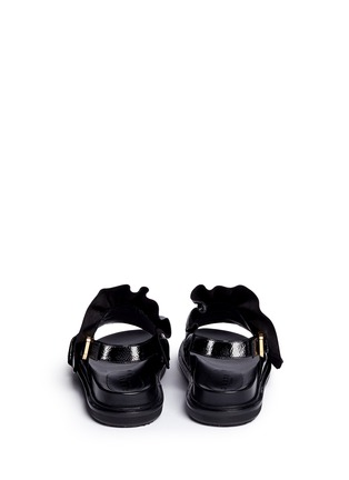 Back View - Click To Enlarge - Marni - 'Fussbett' ruffle patent leather sandals