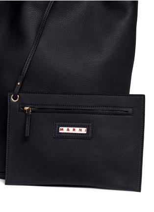 - Marni - Large pebbled leather bucket bag