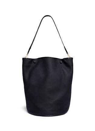 Main View - Click To Enlarge - Marni - Large pebbled leather bucket bag